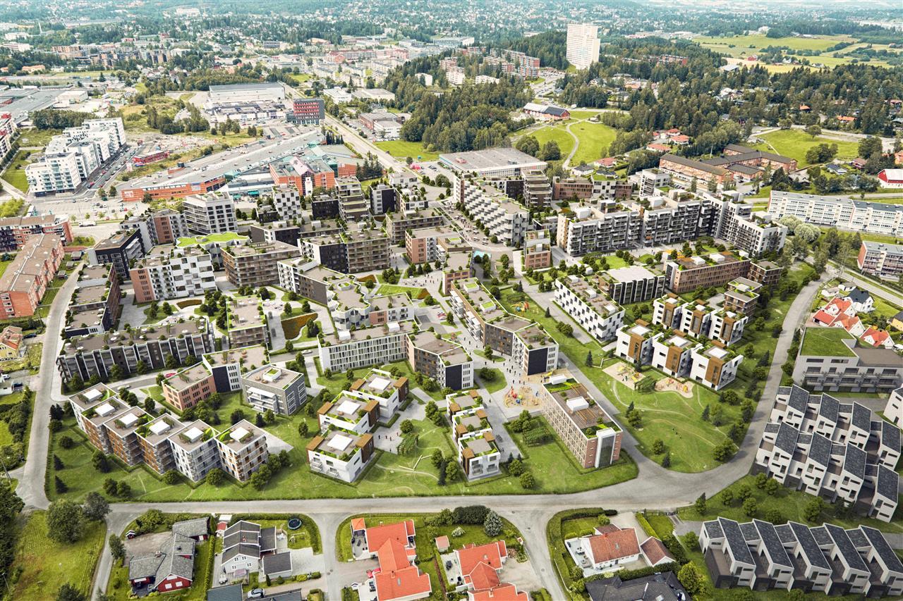 Oversiktsbilde av Løkenhagen